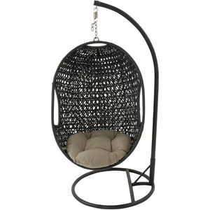 Hanover Outdoor Hanging Chairs Hanging Wicker Pod Swing
