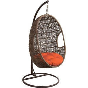 Hanover Outdoor Hanging Chairs Hanging Wicker Pod Swing Chair