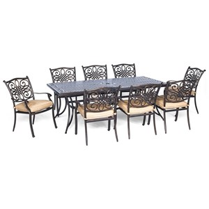 Hanover Outdoor Traditions 9-Piece Dining Set