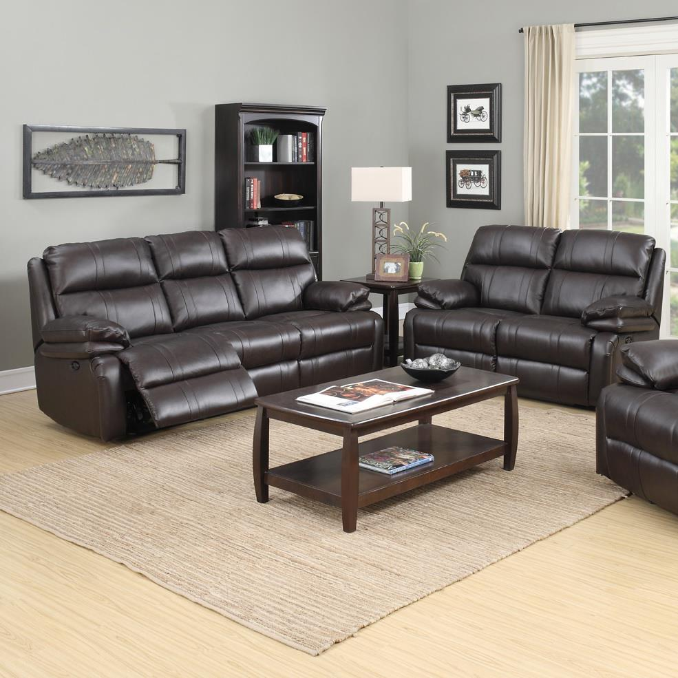 1286 Power Reclining Living Room Group by Happy Leather Company at VanDrie Home Furnishings