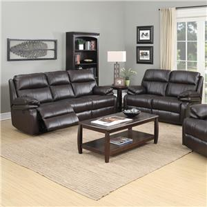 Happy Leather Company 1286 Power Reclining Living Room Group