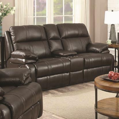 1286 Power Reclining Love Seat by Happy Leather Company at VanDrie Home Furnishings