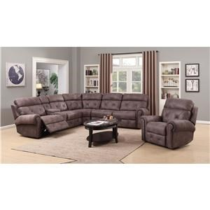 Happy Leather Company 1378 Power Reclining