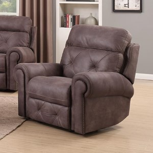 Happy Leather Company 1378 Manual Recliner