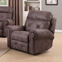 Happy Leather Company 1378 Manual Recliner - Item Number: 1378-50-DTC135-3