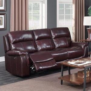 Beau Happy Leather Company 1387A Power Sofa