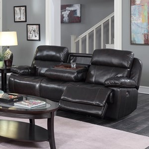 Happy Leather Company 1397 Drop Down Power Sofa