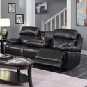 Happy Leather Company 1397 Drop Down Power Sofa - Item Number: 1397-53P Houston Brown