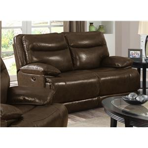 Happy Leather Company Sunnyvale 1282 Power Reclining Love Seat
