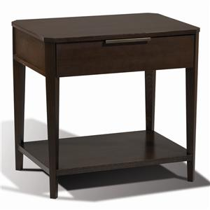 Artistry Nona Night Stand w/ 1 Drawer & 1 Shelf by Harden Furniture