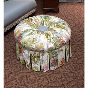 Harden Furniture Upholstery Round Ottoman