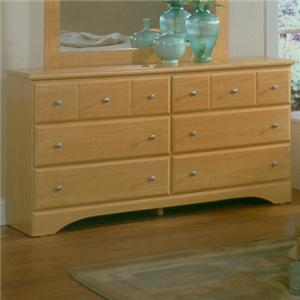 Harden Manufacturing Point Clear Six Drawer Dresser