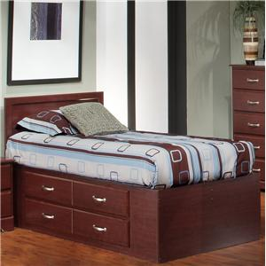 Harden Manufacturing Shiloh Twin Captains Bed