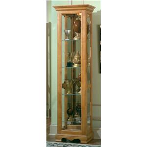 Great Harden Manufacturing Oak Small Curio Cabinet W/ Crown Molding