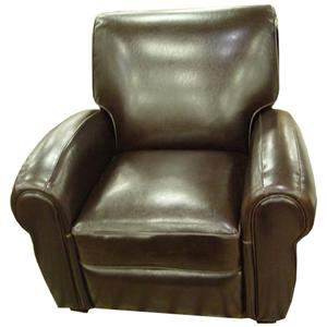 Leather Chairs Traditional Reclining Leather Miguel Chair by Harmony