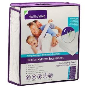 Healthy Sleep Premium Mattress Encasement Cal King Premium Mattress Encasement