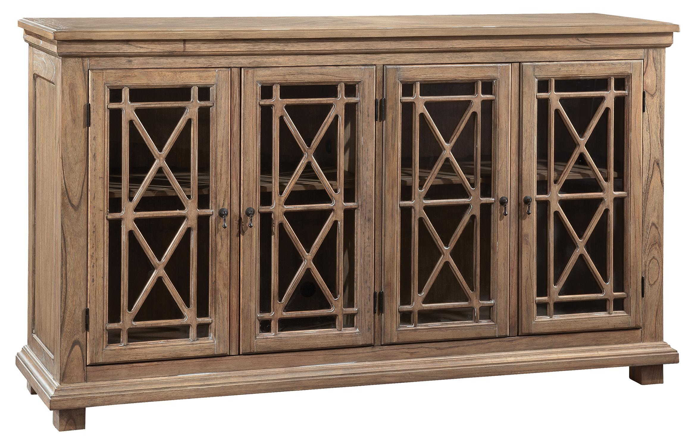 Accents and Occassional Lattice Front Entertainment Console by Hekman at Sprintz Furniture