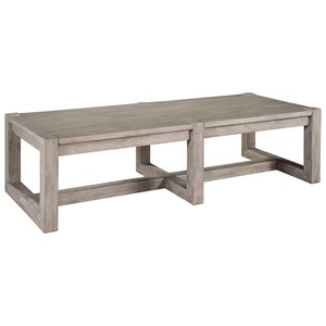 Rectangular Wood Top Coffee Table
