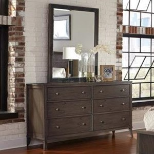 Hekman Urban Retreat Dresser and Mirror Combo