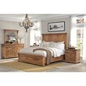 Hekman Wellington Hall Rustic King Bedroom Group - Bed Shown May Not Represent Size Indicated