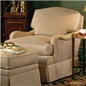 Henredon Henredon Upholstery La Salle Upholstered Chair with Skirted Base