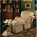 Henredon Henredon Upholstery La Salle Upholstered Chair with Skirted Base - Shown in Room Setting with Matching Ottoman