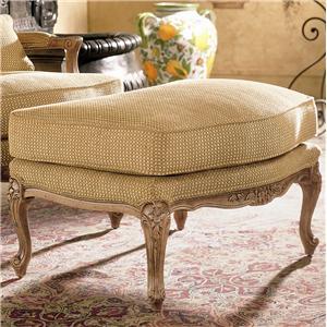 Henredon Henredon Upholstery Upholstered Memoir Ottoman with Cabriole Legs