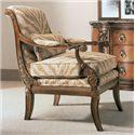 Henredon Henredon Upholstery Traditional Ferguson Chair with Exposed Wood Arms
