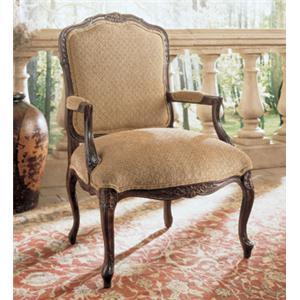 Henredon Henredon Upholstery Greta Traditional Exposed Wood Chair