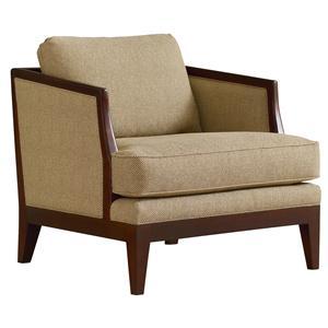 Henredon Henredon Upholstery Island Contemporary Exposed Wood Chair