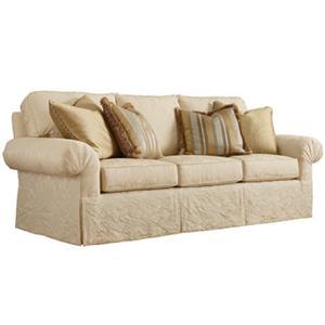 Delightful Fireside Sofa With 4 Throw Pillows