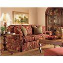 Henredon Henredon Upholstery Fireside Sofa With 4 Throw Pillows