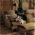 Henredon Henredon Upholstery Phillipe Chair with Exposed Wood Cabriole Legs