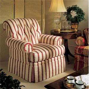 Henredon Henredon Upholstery Julia Chair with Rolled Arms and Tufted Back