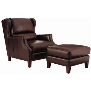 Henredon Leather Select Chair and Ottoman