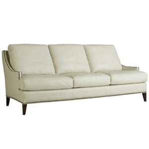 Henredon Leather Select Traditional Sofa