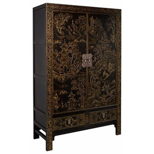 Henredon Mark D. Sikes Queen's Road Chinoiserie Armoire