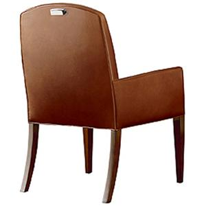 Henredon Scene Six Dining Arm Chair with Track Arms