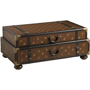 Henry Link Trading Co. Henry Link Trading Co. Henry Link Steamer Trunk Cocktail Table