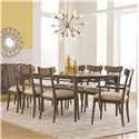 HGTV Home Furniture Collection City Center Leg Dining Table Set - Item Number: 4545-4266+2x2452+6x2453
