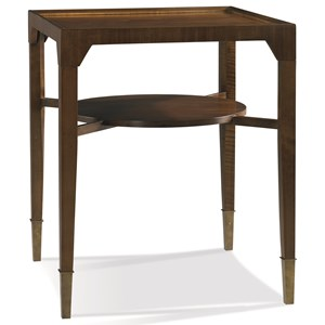 Stratos Collection Contemporary Side Table with Shelf by Hickory White
