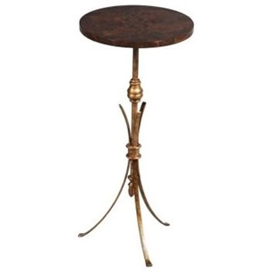 Traditional Wood and Metal Lamp Table