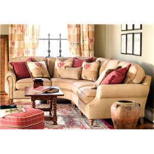 Sean Transitional Sectional Sofa with Nailhead Trim by Highland House