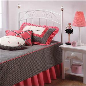 Hillsdale Metal Beds Emma Twin Metal Headboard