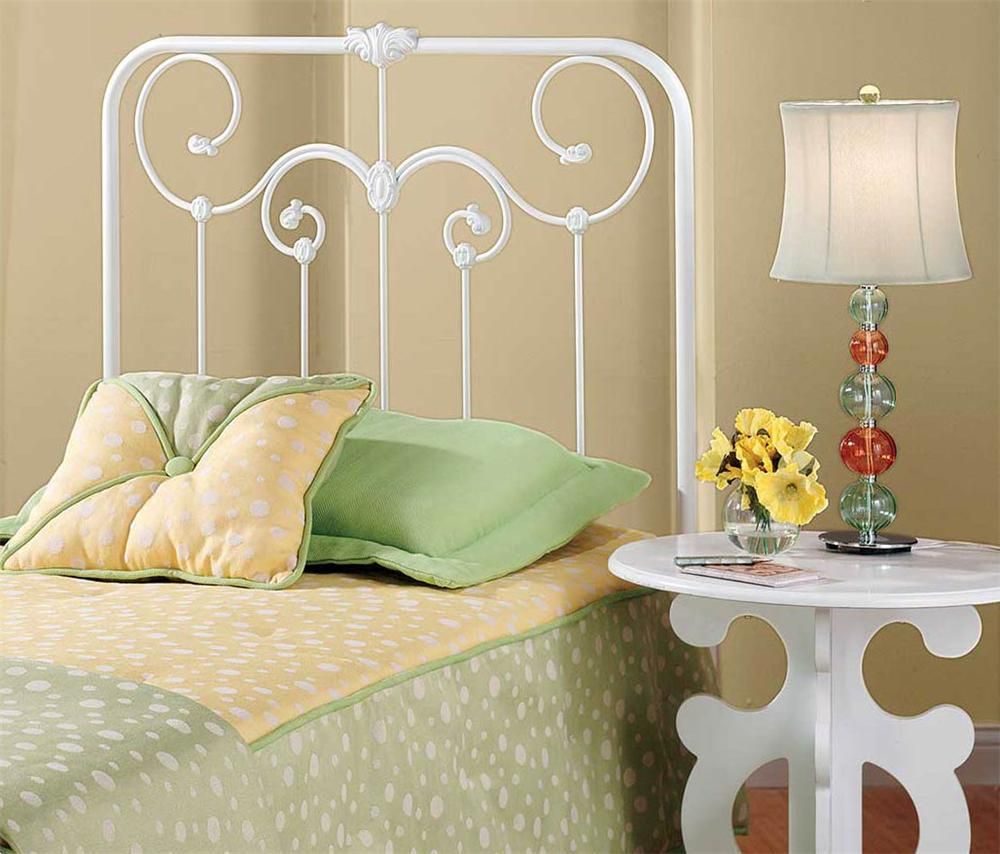 Hillsdale Metal Beds Lacey Twin Headboard: White - Item Number: 277-34