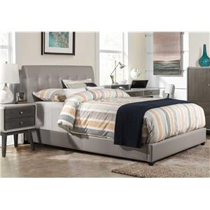 Hillsdale 1945Lusso Queen Faux Leather Bed