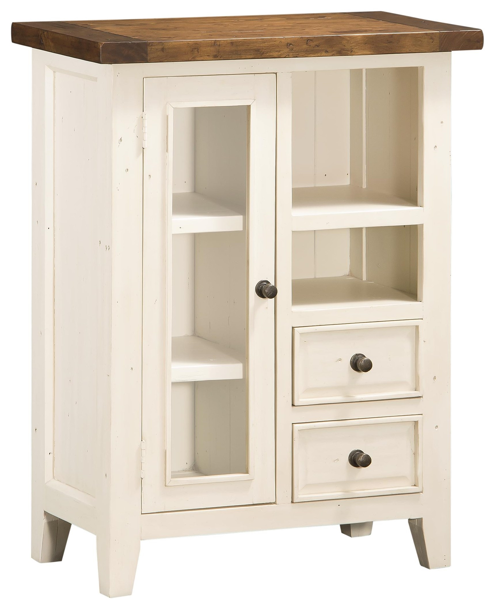 Tuscan Retreat White Door Cabinet by Hillsdale at Stoney Creek Furniture