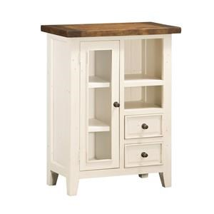 Hillsdale Tuscan Retreat White Door Cabinet