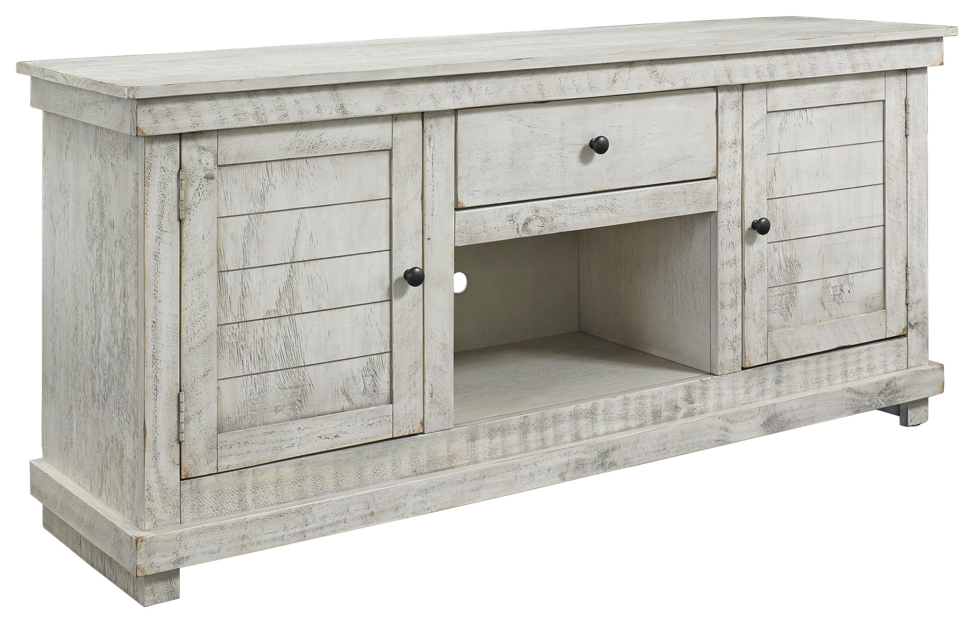 641 Villa Distressed Entertainment Console by Hillsdale at Furniture Fair - North Carolina