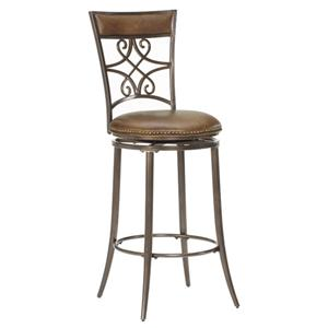 "Hillsdale Metal Stools 30"" Bar Height Seville Swivel Stool"
